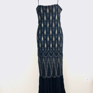 VTG Oleg Cassini mermaid long Gown vintage Size 10